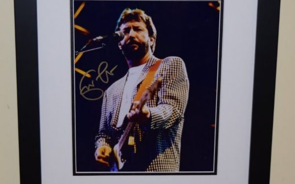 #1-Eric Clapton Signed 8×10 Photograph