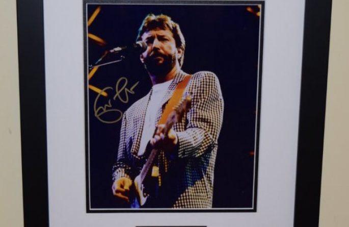 #1-Eric Clapton Signed 8×10 Photograph