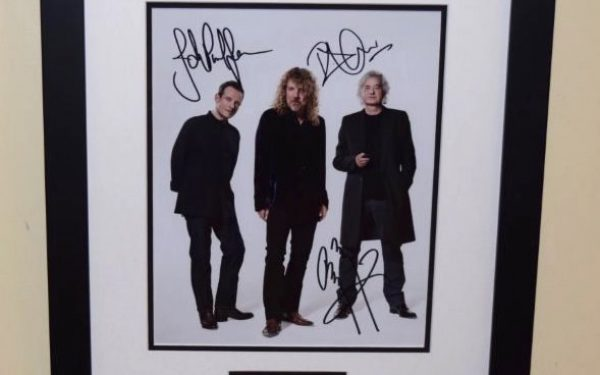 #3-Led Zeppelin Signed 8×10 Photograph