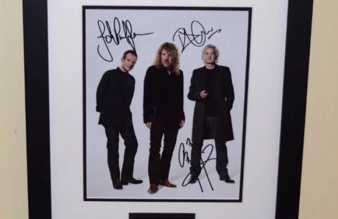 #3-Led Zeppelin 8×10 Signed Photograph