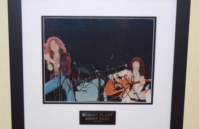 #2-Robert Plant and Jimmy Page Signed 8×10 Photograph