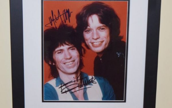 #4-Keith Richards and Mick Jagger Signed 8×10 Photograph