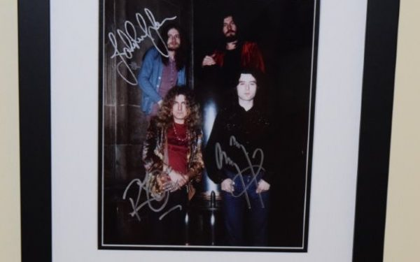 #4-Led Zeppelin Signed 8×10 Photograph