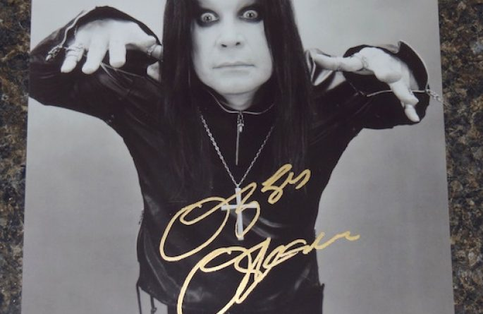 #3-Ozzy Osbourne Signed 8×10 Photograph