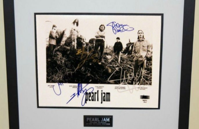 #3-Pearl Jam Signed 8×10 Promotional Photograph