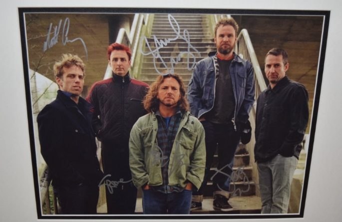 #2-Pearl Jam Signed 8×10 Promotional Photograph
