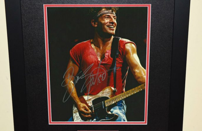 #4 Bruce Springsteen Signed 8×10 Photograph