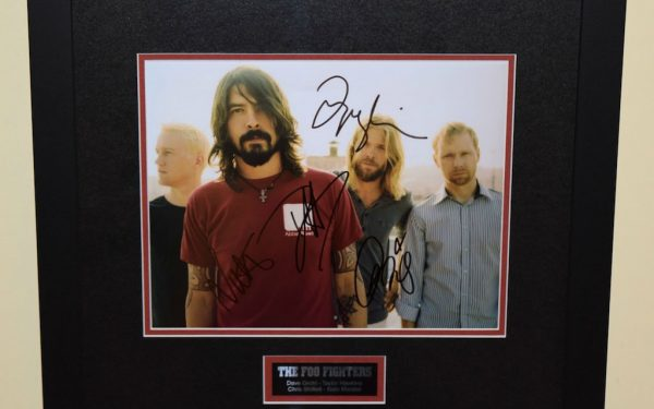 #1-Foo Fighters Signed 8×10 Photograph
