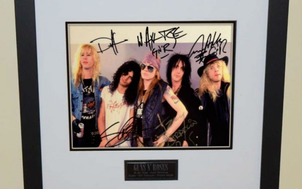 #3-Guns N' Roses Signed 8×10 Photograph
