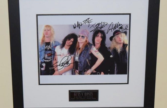 #3-Guns N' Roses Signed Photograph