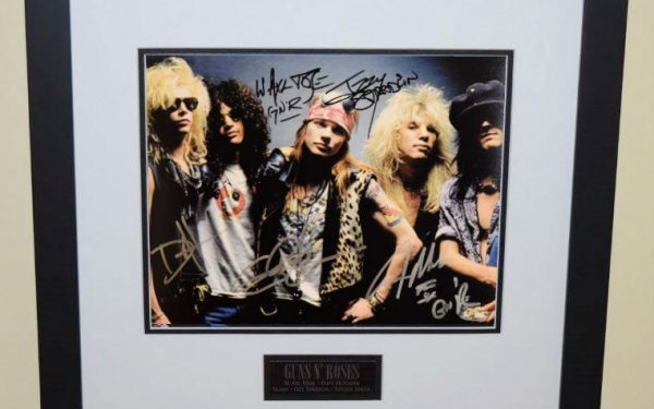 #1-Guns N' Roses Signed 8×10 Photograph