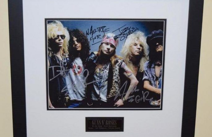 #1-Guns N' Roses Signed Photograph