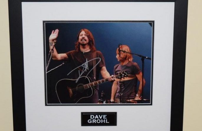 Dave Grohl Signed Photograph