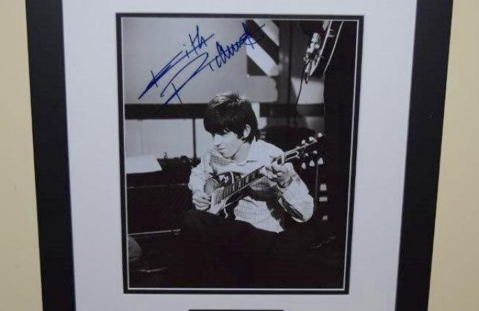#2-Keith Richards Signed 8×10 Photograph