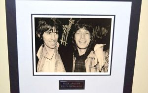 #3-Keith Richards and Mick Jagger Signed 8×10 Photograph
