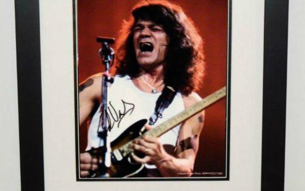 #5-Eddie Van Halen Signed 8×10 Photograph
