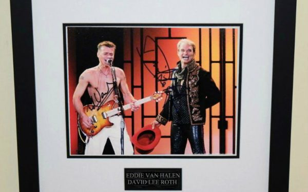 #6-Van Halen – David Lee Roth & Edward Signed 8×10 Photograph