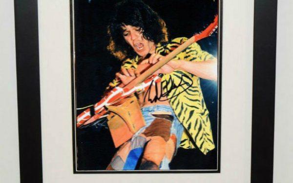 #8-Eddie Van Halen Signed 8×10 Photograph