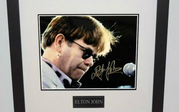 #3-Elton John Signed 8×10 Photograph