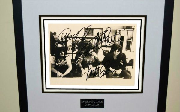 Emerson, Lake & Palmer Signed 8×10 Photograph