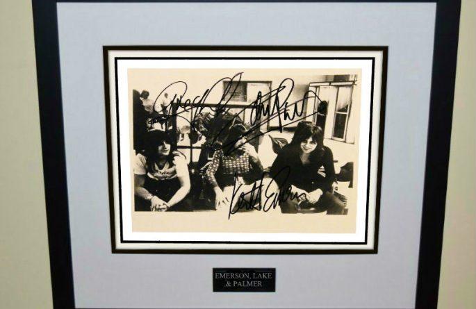 Emerson, Lake & Palmer Signed 8×10 Photograph