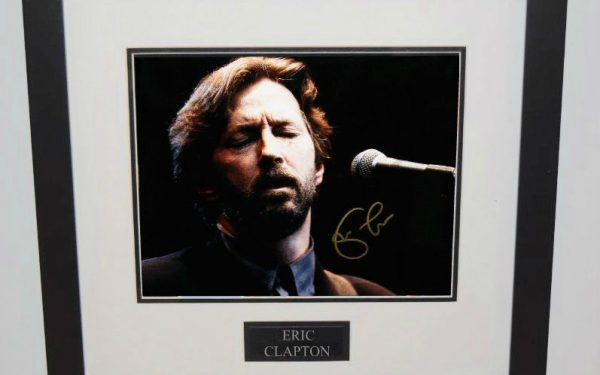 #5-Eric Clapton Signed 8×10 Photograph