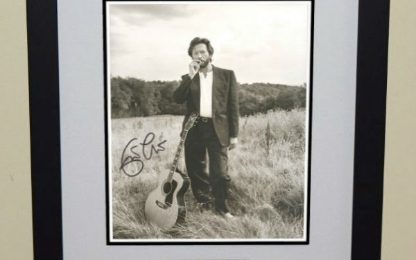 #9-Eric Clapton Signed Photograph