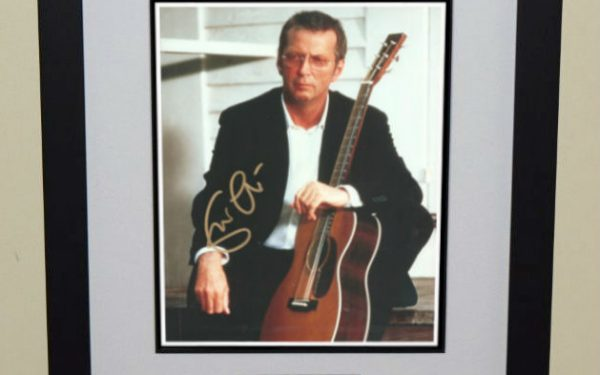 #8-Eric Clapton Signed Photograph