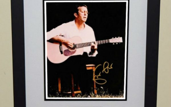 #7-Eric Clapton Signed 8×10 Photograph