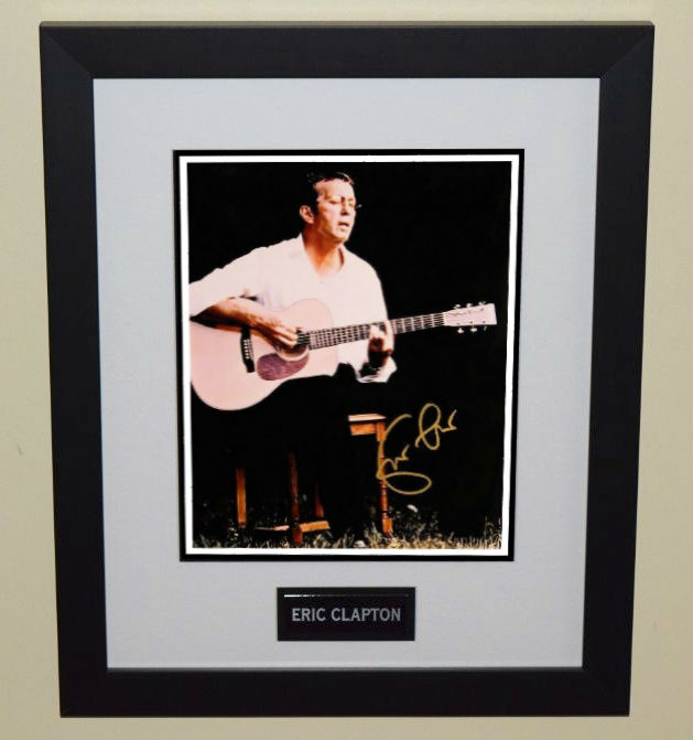 eric clapton rock star gallery hand signed collectiblesrock star gallery. Black Bedroom Furniture Sets. Home Design Ideas