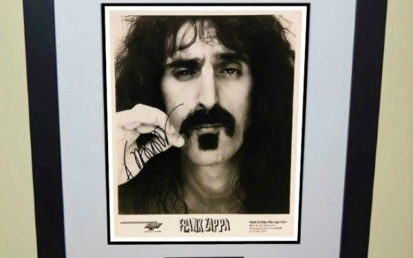 #1-Frank Zappa Signed Photograph