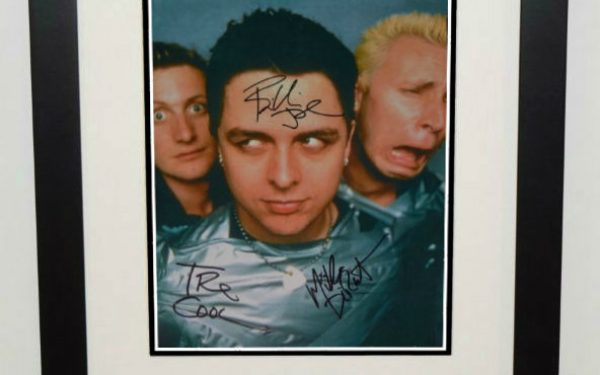 #3-Green Day Signed 8×10 Photograph