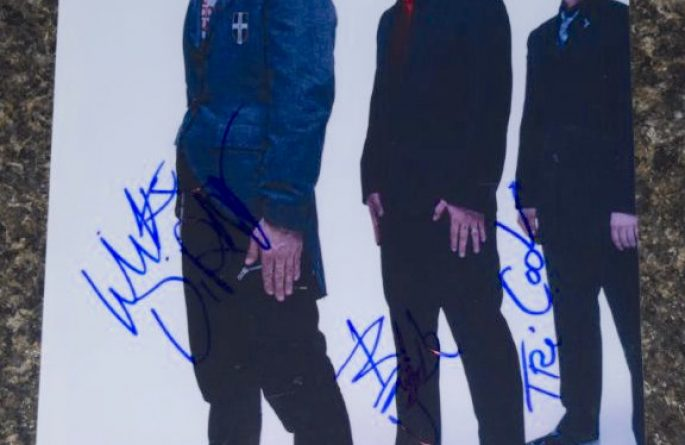 #2-Green Day Signed 8×10 Photograph