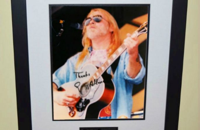 Gregg Allman Signed 8×10 Photograph