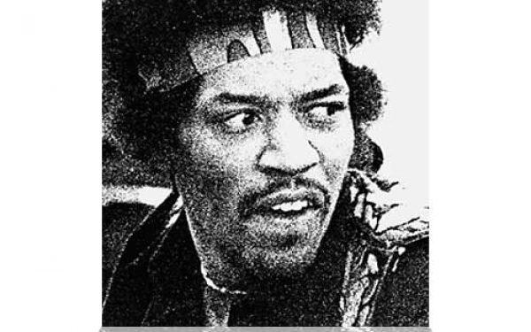 Hendrix Face Sacramento (1970)