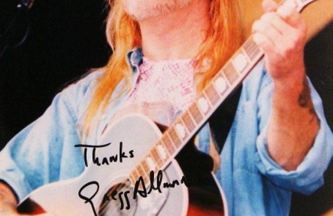 Gregg Allman Signed 8×10 Photograph