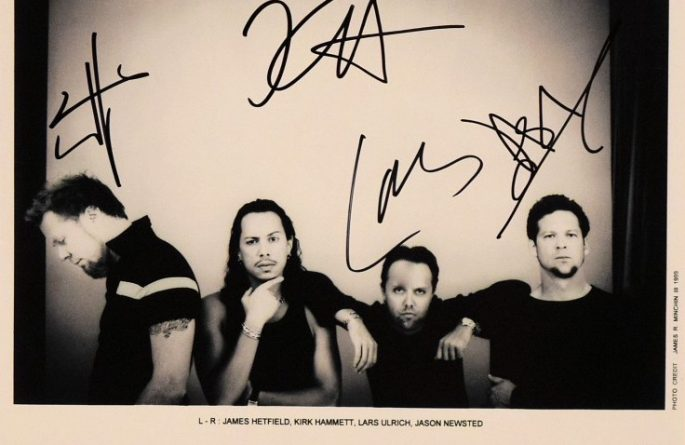 #3-Metallica Signed 8×10 Photograph