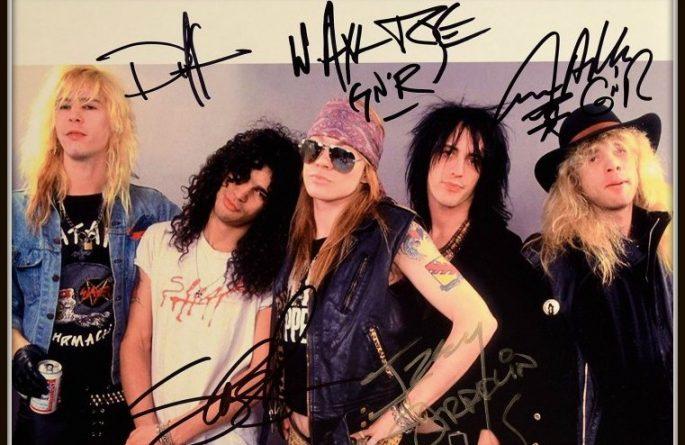 #3-Guns N' Roses Signed 8×10 Photograph