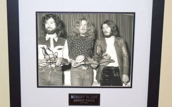 #1-Robert Plant and Jimmy Page Signed 8×10 Photograph