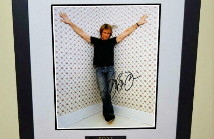 #3-Bon Jovi Signed 8×10 Photograph
