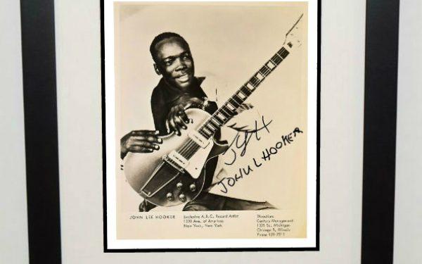 John Lee Hooker Signed 8×10 Photograph