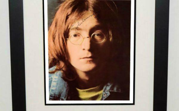 #1-John Lennon Signed Photograph
