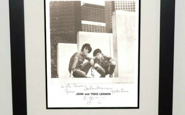 #2-John Lennon Signed 8×10 Photograph