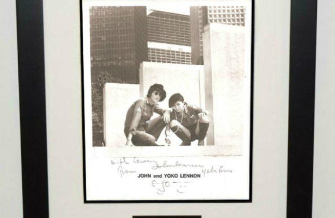 #2-John Lennon Signed 8×10 Photograph