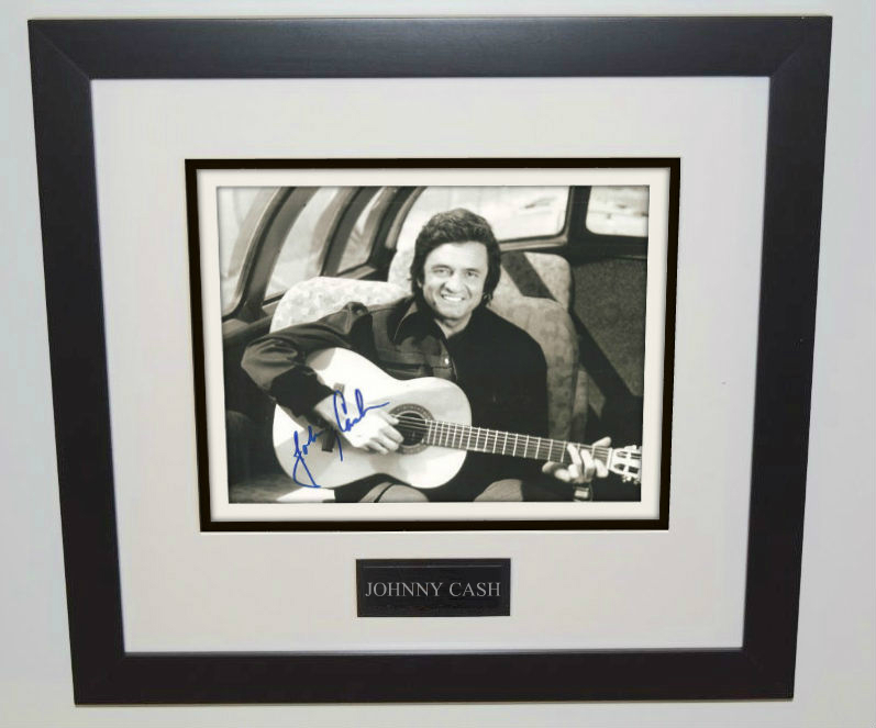 1-Johnny Cash Signed Photograph - ROCK STAR galleryROCK STAR gallery