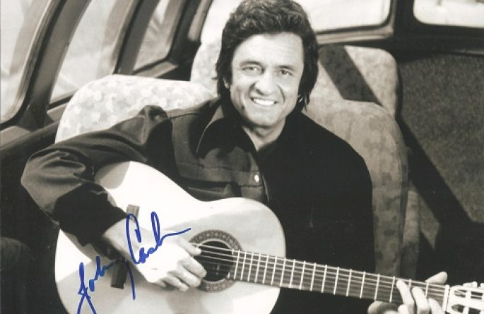 #1-Johnny Cash Signed 8×10 Photograph