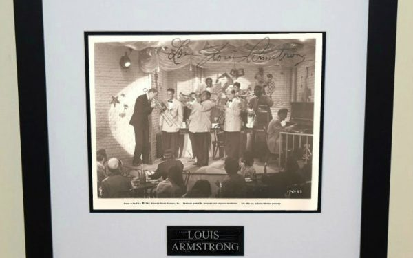 Louis Armstrong Signed 8×10 Photograph