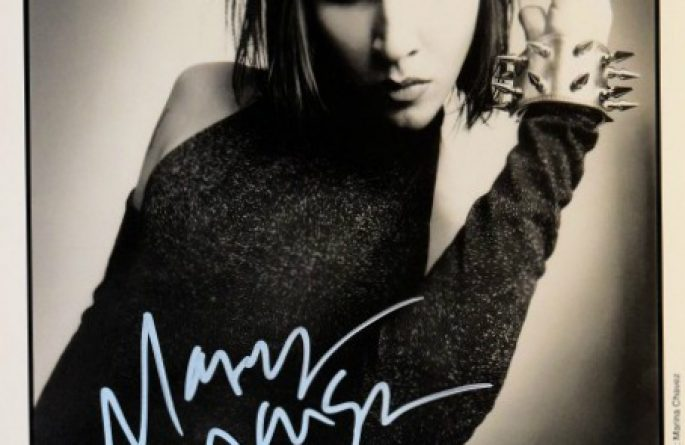 #1-Marilyn Manson Signed 8×10 Photograph