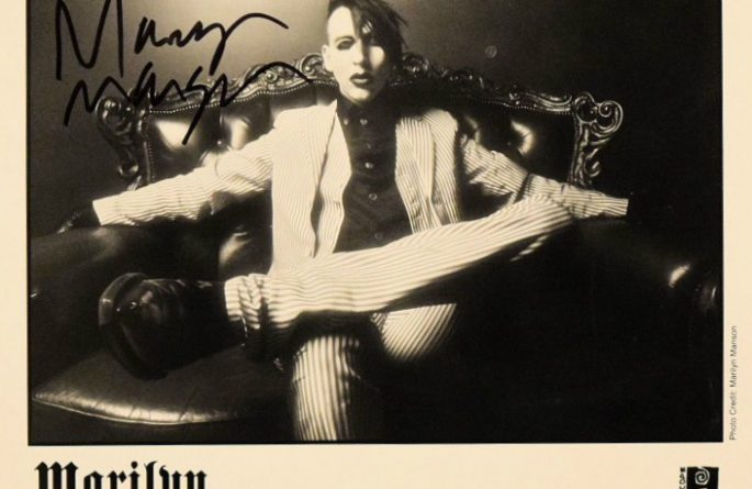 #2-Marilyn Manson  Signed 8×10 Photograph