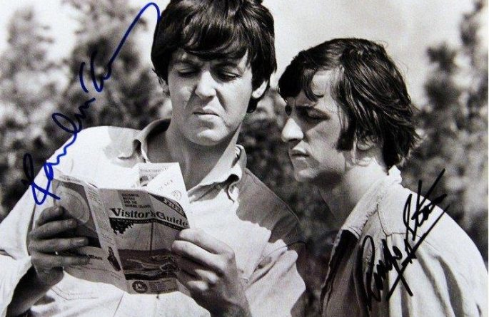 #10-Paul McCartney & Ringo Starr Signed 8×10 Photograph